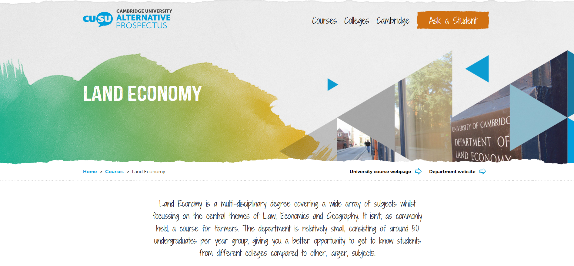CUSU_Alternative_Prospectus_Land_Economy