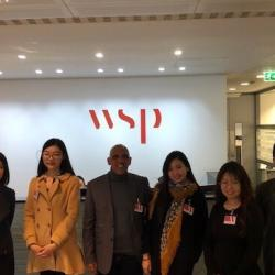 Students visit lead architect Bill Price and staff at WSP London