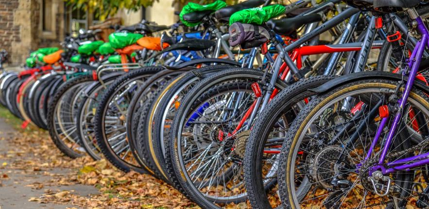 Cambridge in Autumn Bicycles at Trinity College