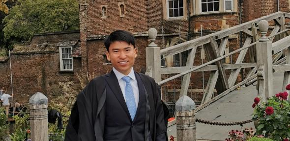 Jerry Chen, 2nd year Land Economy PhD candidate named the inaugural Stamps Scholar at Queens' College.