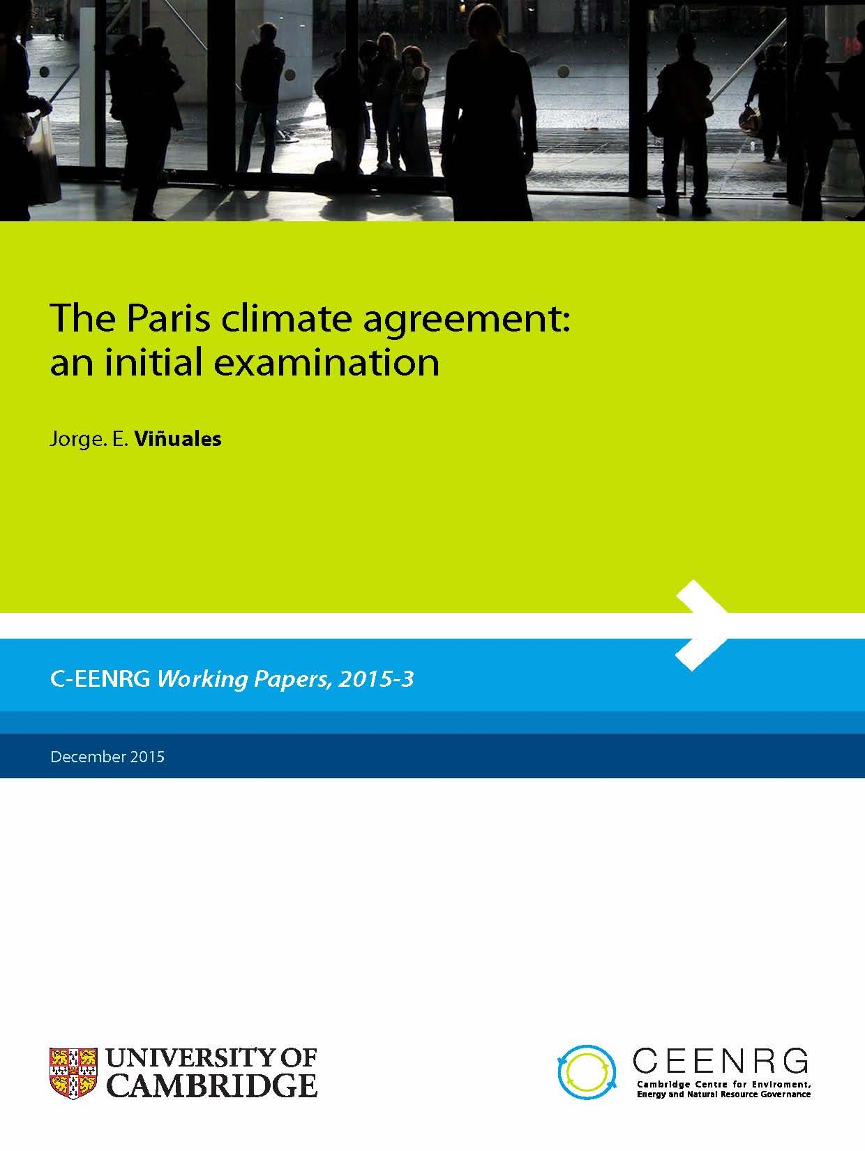 The Paris climate agreement: an initial examination