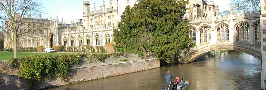 Punting on the river Cam in Cambridge